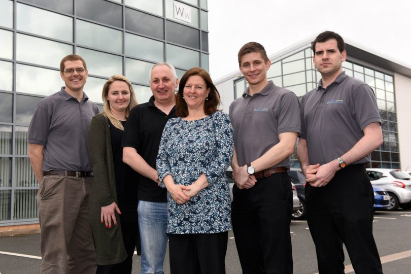 Paul and Katy Jones (centre) and the team at Network Support Solutions