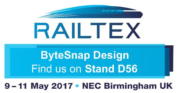 Click for your free ticket; find ByteSnap's rail remote monitoring solutions on Stand D56 at Railtex!