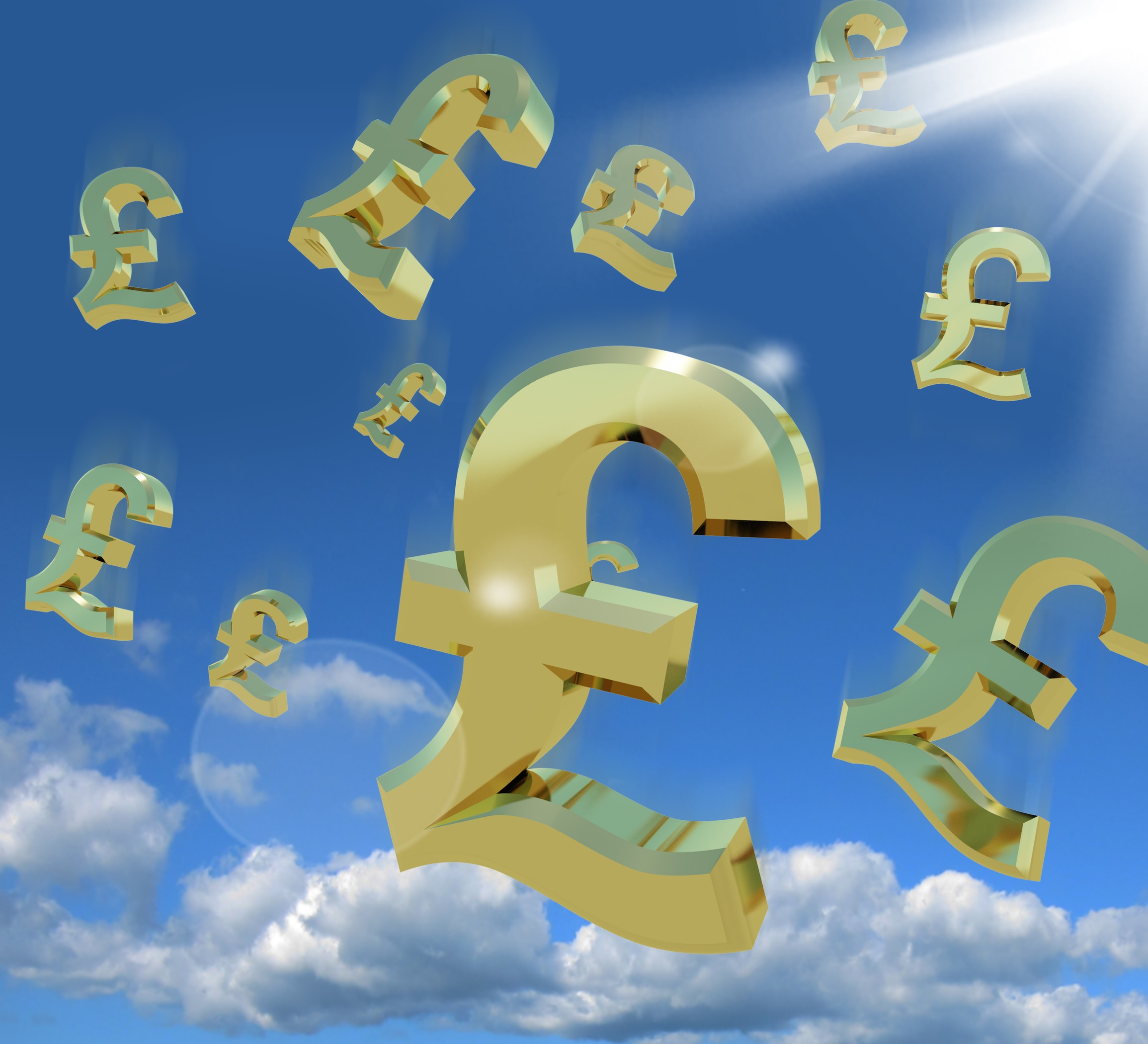 Pound Signs In The Sky As A Sign Of A Windfall