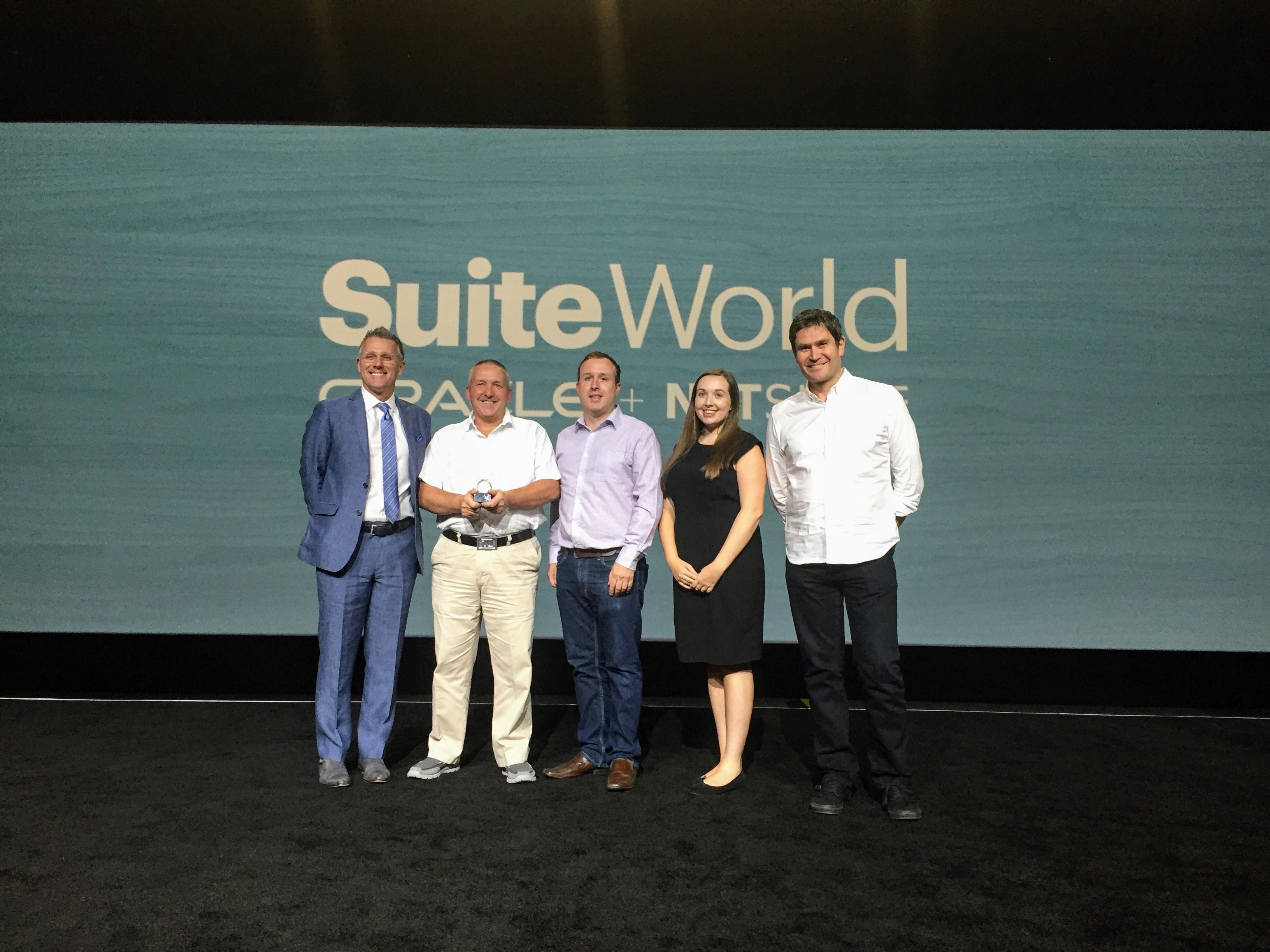 FHL receiving NetSuite EMEA partner of Year Award 2017