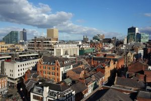 Manchester-general-view-Albert-Square-Bridge-Street-clouds-Manchester-Town-Hall-Albert-Square-Clouds