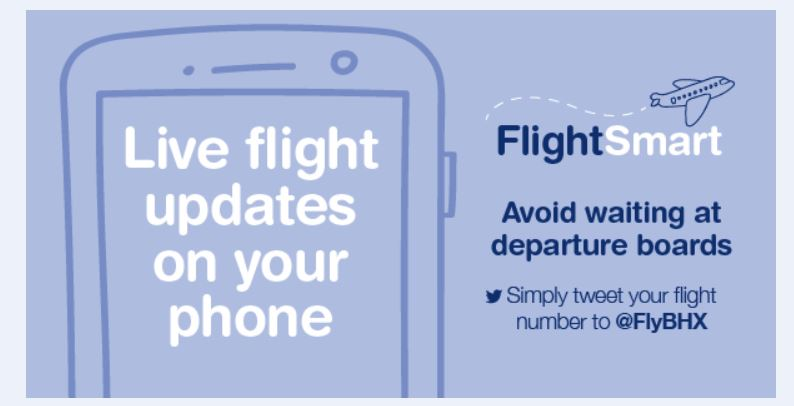 Birmingham Airport service for real-time flight news via Twitter