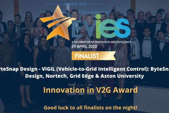 ByteSnap finalists at Electric Vehicle Innovation & Excellence Awards 2020
